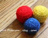 Set of 3 Soft Crinkle Balls for Baby