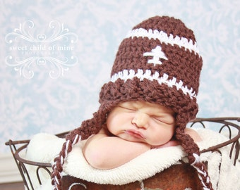 Football Is the Name of the Game - Newborn Hat