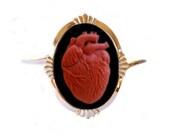 Anatomical Heart Cameo Cuff Bracelet