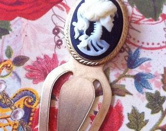 Skeleton Bookmark - Gothic Ivory Lolita - Victorian Zombie