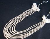 Statement Necklace, Vintage Necklace, Victorian, Layered Necklace, Bridal Necklace, Pearls - Victoria
