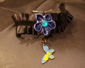 Blue Kanzashi and Butterfly Choker