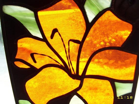 Orange Lily Panel