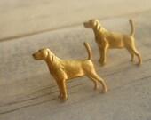 Golden Labrador Earrings ... Vintage Dog Retriever Studs