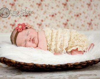 Baby headband, newborn headband, adult headband, child headband and photography prop The double sprinkled- CLARA  headband
