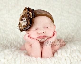 Baby headband, newborn headband, adult headband, child headband and photography prop The single sprinkled FALLtastic BOW headband