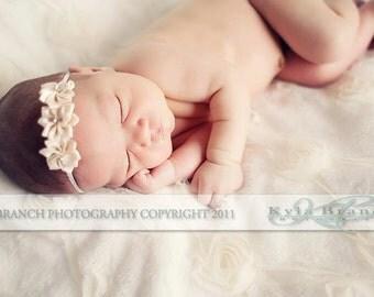 Baby headband, newborn headband, adult headband, child headband and photography prop The triple sprinkled- Rhinestone Flower headband