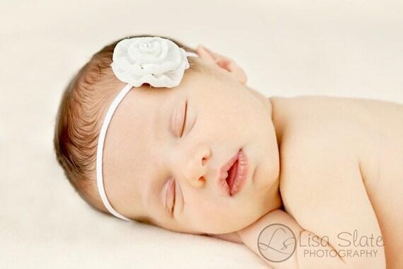 Newborn headband, baby headband, adult headband, photo prop The single sprinkled- Leah- stretch headband