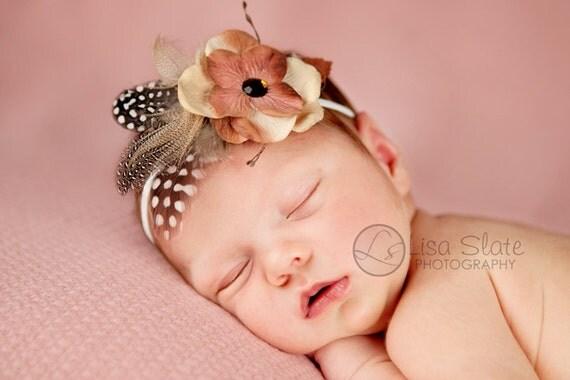 Newborn headbands Baby headband Adult headband Child headband Baby hairbow Photo prop Preemie headband Teen headband flower headband fall