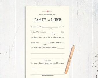 Wedding AdLibs Guestbook Alternative