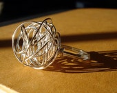 Texas Tumbleweed - Twisted Silver Wire Wrapped Ring (Custom Size)