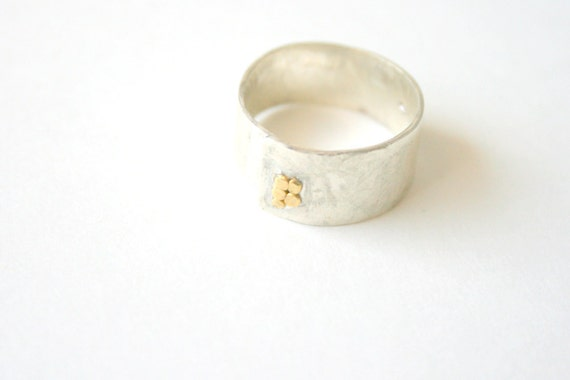 Modern Silver Texture Ring