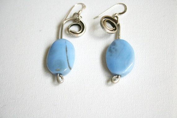 Christmas Sale, Blue Earrings, Christmas Sale, Blue Silver Earrings, Blue Christmas Gift