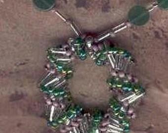 Spiral Loop Necklace with Green Aventurine