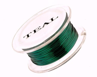 Parawire, Teal Non Tarnish Colored Craft Wire, 22 Gauge 15 yard, Qty 1 Spool