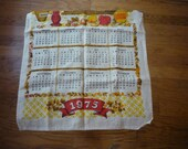 1975 Kitchen Calendar Towel