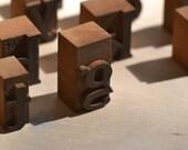 Vintage Wooden Letterpress Letter Blocks - 78 Total