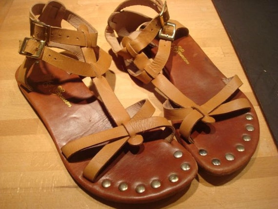 SALE Gladiator Sandals- Leather and Studs