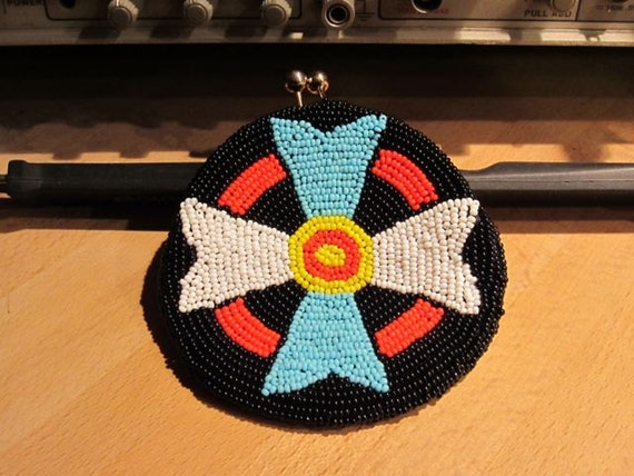Tribal Beaded Coin Purse