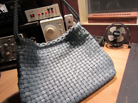 RESERVED Grey Blue Woven Purse RESERVED