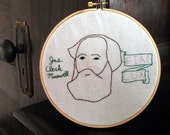 James Clerk Maxwell Hand Embroidered Hoop