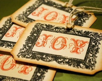 Oh Joy Vintage Style Holiday Gift Tags Set of 4
