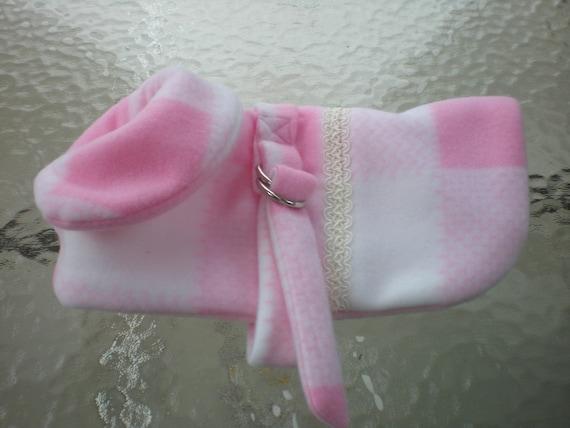 fleece dog coat pink