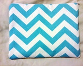 Zigzag Chevron Aqua Blue White iPad 2 Tablet PC Case Cover Computer Sleeve Tablet PC Holder Bag