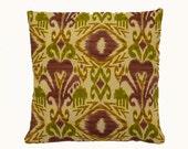 Solarium Indoor/ Outdoor Sumter Ikat Vineyard Home Decorating Cotton Pillow Covers Set of 2