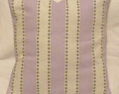 Lavender & Gray White Dots Stripe Decor Bed Sofa Throw Pillow Cover