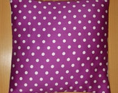 Purple White Polka Dots Carver Designer Home Dec Bed Sofa Accent Throw Pillow Cover