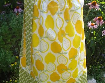 Girls Pillowcase Dress Juicy Lemons summer spring dress custom made by Baby Harrill