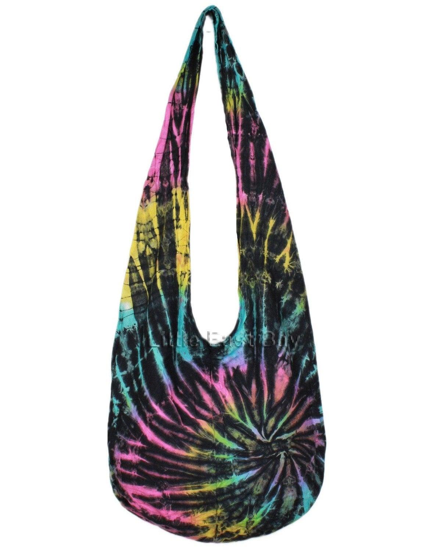 hippie hobo tie dye sling crossbody bag purse n10 by