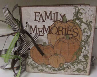 Family Fall Scrapbook