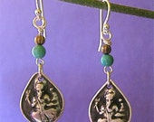Ganesh /Turquoise Earrings