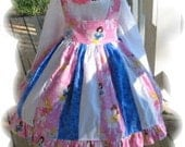 Disney Princess Halter Dresss with Free Hair Bow/ Custom Dress Made To Order