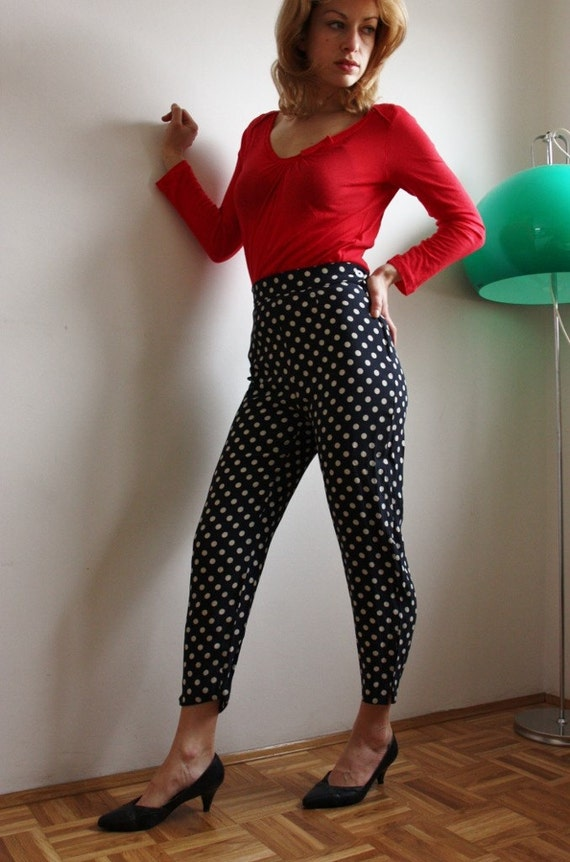 SALE moschino oh couture polka dots pants