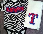 Custom Boutique Texas Rangers Baseball Gift Set
