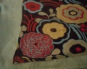 25% OFF all Ready to Ship -Chocolate Floral stroller Blanket