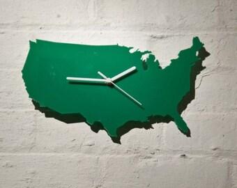 U.S.A. clock (Green)