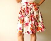 Floral skirt, summer skirt - Vintage inspired, so delicate - Sale