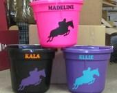 Custom Horse Show Bucket
