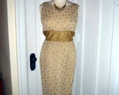 Gorgeous Sparkly Gold 60s Dress - S