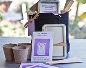 Herb Growing Kit, Gift Tin, and Heirloom Seeds