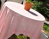 Vintage pink tablecloth