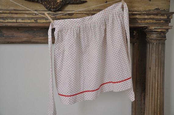 Red polka dot vintage apron