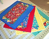 Victory Garden Quilted Placemats, Set of 4