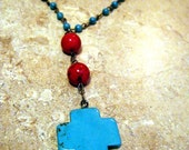 Turquoise and Coral Anglican Prayer Beads