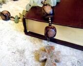 Jade and Tan Stone Anglican Rosary