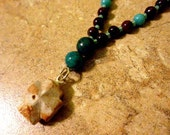 Turquoise and Brown FAIRY STONE Anglican Rosary Bracelet